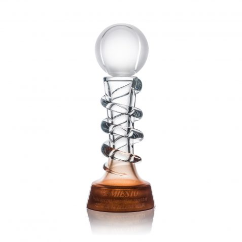 Tenisová trofej s vlastným textom a motívom ŠPIRÁLA 280mm